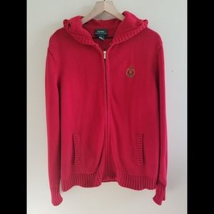 Vintage Ralph Lauren Full Zip Hooded Cardigan XL